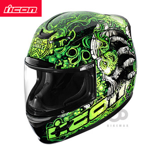 ICONAIRMADABRITTON- green -아이콘헬멧입점!!!ICON HELMETS !!