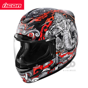 ICONAIRMADAGANESH- black -아이콘헬멧입점!!!ICON HELMETS !!
