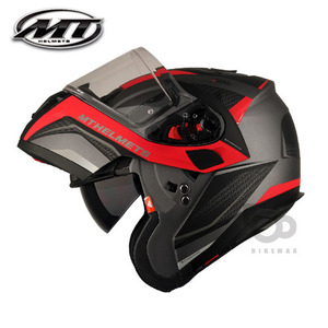 MT   ATOM SV TARMACEVO  - matt black/red -  MT헬멧입점!!